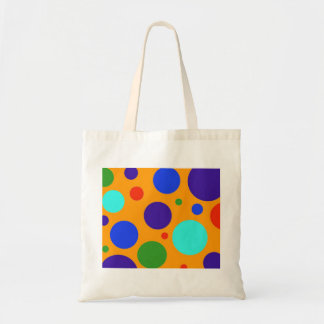 Fun Colorful Big Polka Dots Blue Orange Green Tote Bag