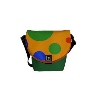 Fun Colorful Big Polka Dots Blue Orange Green Courier Bags