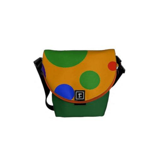 Fun Colorful Big Polka Dots Blue Orange Green Courier Bags