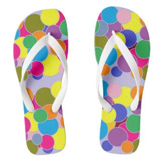 Fun Colorful Circles Design Flip Flops