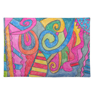 Fun Colorful Design Placemats