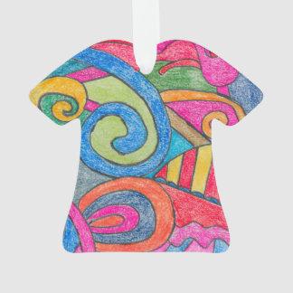 Fun Colorful Design Shirt Ornament