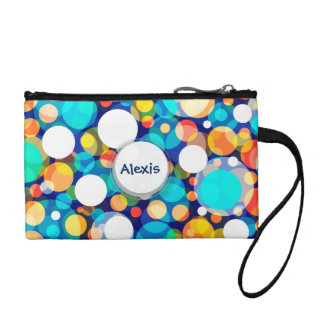 Fun Colorful Dots Pattern (Kids, Celebrations) Coin Wallet