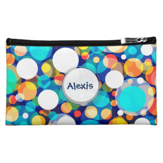 Fun Colorful Dots Pattern (Kids, Celebrations) Cosmetic Bag
