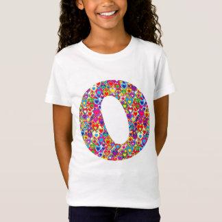 Fun Colorful Dynamic Heart Filled O Monogram T-Shirt