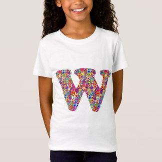 Fun Colorful Dynamic Heart Filled W Monogram T-Shirt