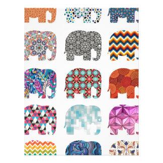 fun colorful funky elephant design customized letterhead