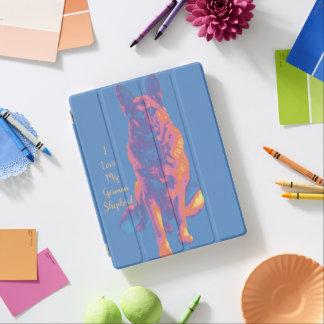 Fun Colorful German Shepherd iPad Cover