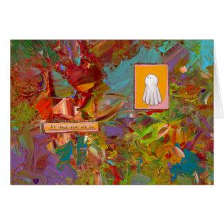 Fun colorful inspirational art glorious ghost card