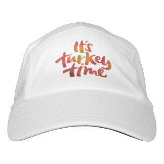 Fun Colorful It's Turkey Time Thanksgiving Dinner Hat
