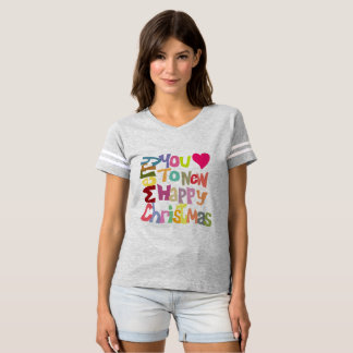 Fun Colorful Merry Christmas T-shirt