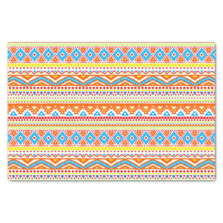 Fun Colorful Modern Hip Arsty Aztec Zigzag Pattern Tissue Paper