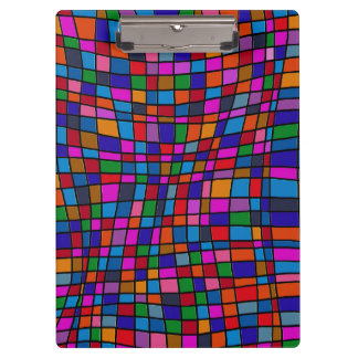 Fun Colorful Mosaic Tiles Pattern Clipboards
