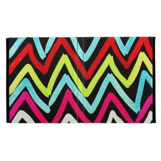 Fun Colorful Painted Chevron Tribal ZigZag Striped iPad Folio Cover