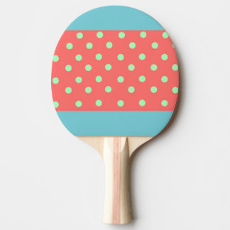 FUN COLORFUL POLKA DOT PING PONG PADDLE