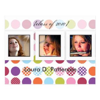 Fun+colorful polka dots, DIY photos postcards