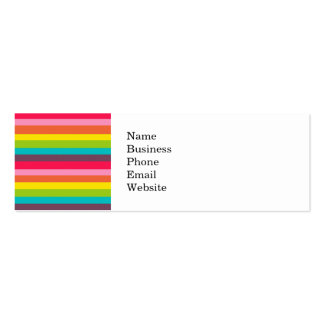Fun Colorful Rainbow Stripes Girly Color Pattern Mini Business Card