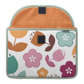 Fun colorful retro flowers macbook pro sleeve