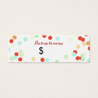 Fun Colorful Sprinkles Price Tag Mini Business Card