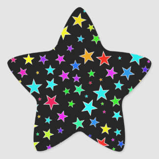 Fun, Colorful Stars Pattern Sticker