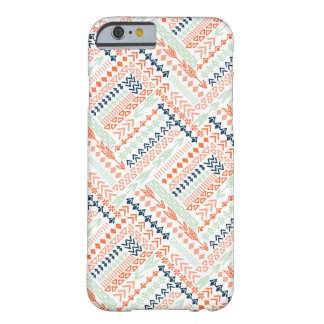 Fun Colorful Tribal Pattern Barely There iPhone 6 Case