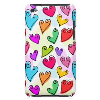 Fun Colorful Valentine's hearts iPod Touch Case