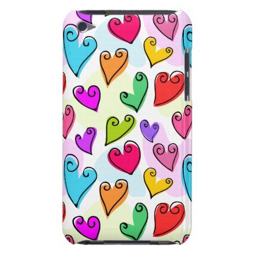Fun Colorful Valentine's hearts iPod Touch Case