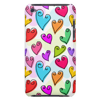Fun colorful Valentine's hearts iPod Touch Mate Barely There iPod Cases