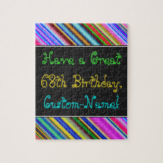 Fun, Colorful, Whimsical 68th Birthday Puzzle