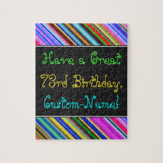 Fun, Colorful, Whimsical 73rd Birthday Puzzle