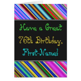 Fun, Colorful, Whimsical 76th Birthday Card