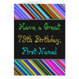 Fun, Colorful, Whimsical 79th Birthday Card