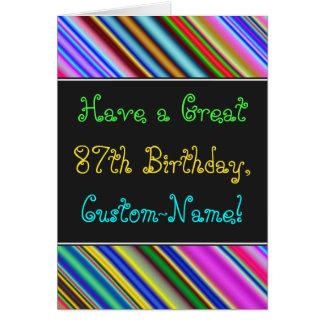 Fun, Colorful, Whimsical 87th Birthday Card