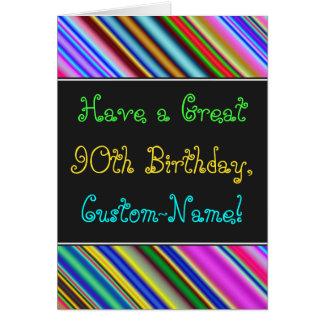 Fun, Colorful, Whimsical 90th Birthday Card