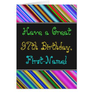 Fun, Colorful, Whimsical 97th Birthday Card