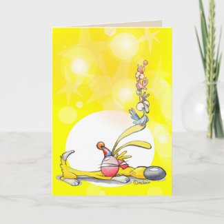 fun colourful card for celebrations or invitations