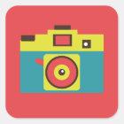Fun Colourful CMYK Lomo Camera Photographer Square Sticker