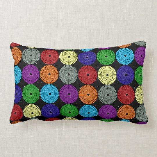 Fun Colourful Multi Coloured Circles Discs Buttons Lumbar Pillow