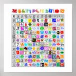 Fun Colourful Multiplication Table
