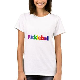 Fun Colourful Pickleball Letters Art T-Shirt