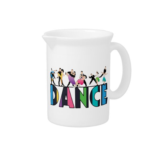 Fun & Colourful Striped Dancers Dance Drink Pitchers