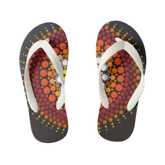 Fun, colourful, Sunrise patterned flip flops