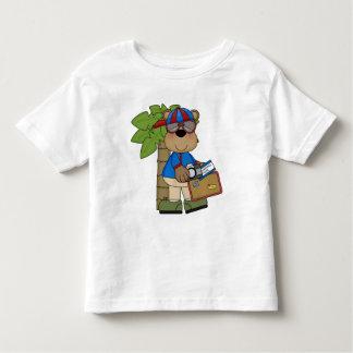 Fun Comic Bear Summer Vacation Toddler T-Shirt