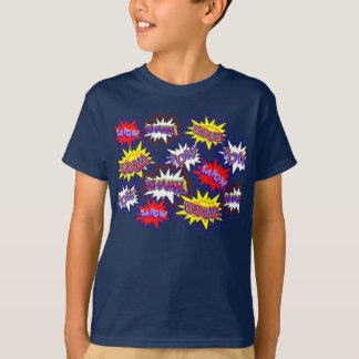 Fun Comic Book Speech Bubbles Pow Boom Kapow T-Shirt