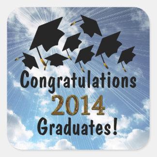 Fun Congratulations 2014 Graduates Caps Stickers