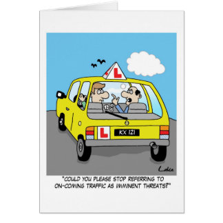 Fun congratulations card for passing driving test