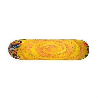 Fun Cool Swirl with Numbers Skateboard