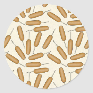 Fun Corndog fastfood pattern sticker