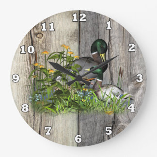 Fun Country Ducks Home office decor wall clock
