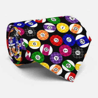 Fun Country Style Checkered Billiards Pattern Tie